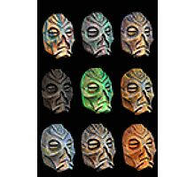 Skyrim Pixel Dragon Priest Masks Photographic Print