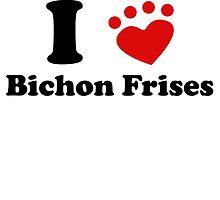 I Heart Bichon Frises by kwg2200