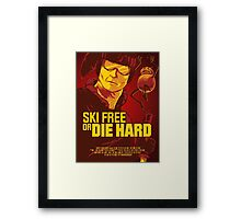 Ski Free or Die Hard Framed Print