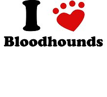 I Heart Bloodhounds by kwg2200