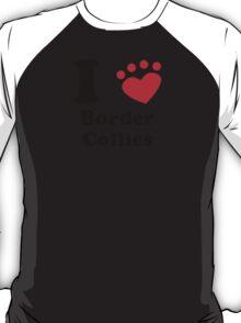I Heart Border Collies T-Shirt