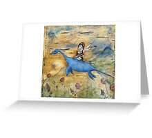 Amelia and Nessie Greeting Card