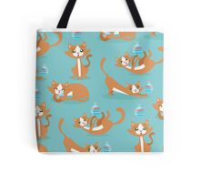 Cute Christmas Cat Tote Bag