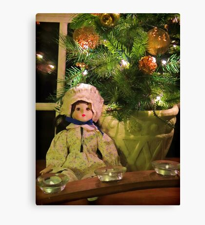 Christmas Doll Canvas Print