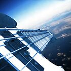 Bass-ship Fenderprise Approaching Earth by Pal Gyomai