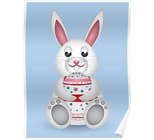 Bunny with Easter egg Poster