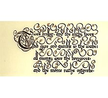 Jabberwock - verse 1 Photographic Print