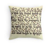 Jabberwock - verse 3 Throw Pillow