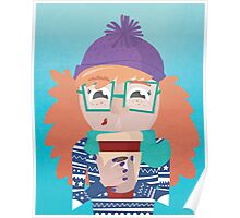 Winter Coffee Girl  Poster