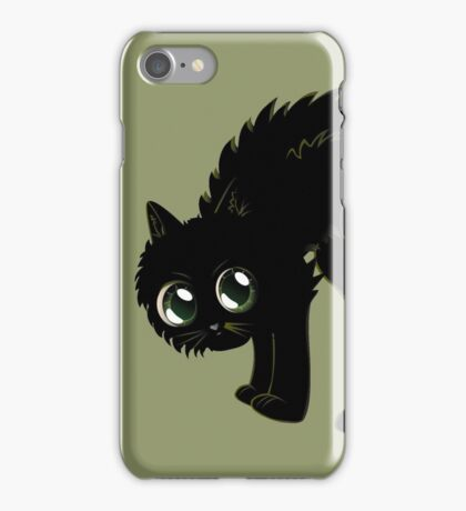 Cartoon black kitten iPhone Case/Skin