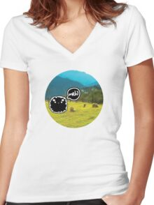 Sheep's Adventure Women's Fitted V-Neck T-Shirt