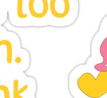 Some people care too much. I think it's called love. - Winnie the Pooh - Disney Sticker
