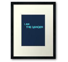 """Breaking Bad - """"I am the danger"""" - Heisenberg Framed Print"""