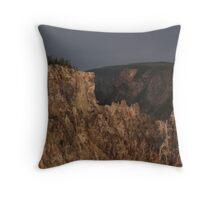 Yellowstone Canyon After A Rain Throw Pillow