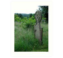 Celtic Gravestone Art Print