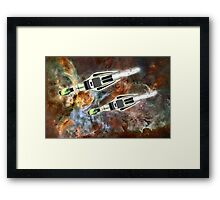 Two Galactic Cruiser/Fighters at NGC 3372 - all products Framed Print