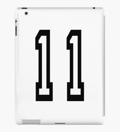 11, TEAM SPORTS, NUMBER 11, Eleven, Eleventh, Competition iPad Case/Skin
