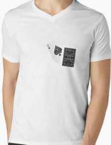 Card Shot Mens V-Neck T-Shirt