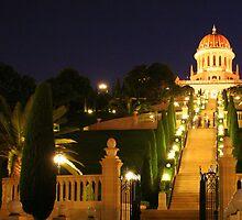 Shrine of the Bab, Ben Gurion Ave Outlook-Mt Carmel, Haifa, Israel by Anthony  Ket