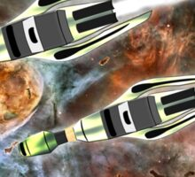 Two Galactic Cruiser/Fighters at NGC 3372 - all products Sticker