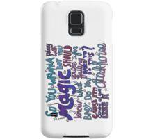 Dark Horse Lyric Art Samsung Galaxy Case/Skin