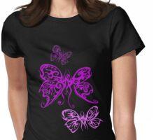 Purple Butterfliez Womens Fitted T-Shirt