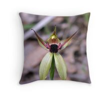 the leaping spider orchid Throw Pillow