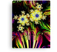 Yellow Dalhias Canvas Print