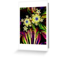 Yellow Dalhias Greeting Card