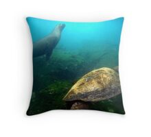Traveling Together Throw Pillow
