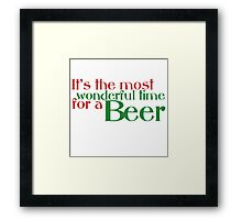 Funny Christmas Beer Parody Framed Print