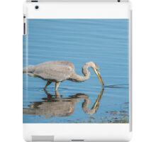 great blue heron fishing iPad Case/Skin