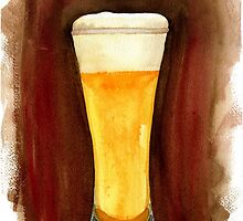 Beer in Glass by sandeedwards