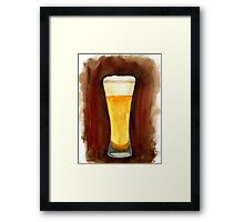 Beer in Glass Framed Print