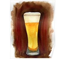 Beer in Glass Poster