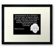 Genius - Albert Einstein Framed Print