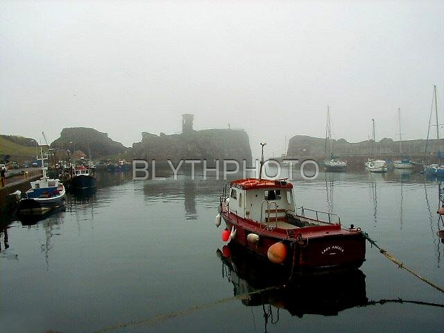 16 - A MISTY DAY AT DUNBAR HARBOUR - 2004. by BLYTHPHOTO
