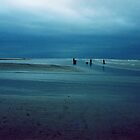 Winter Blue - People by the Sea  by Carl Gaynor