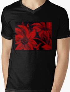 red hot flowers Mens V-Neck T-Shirt