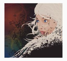 Girl with white hair and text explosion effect One Piece - Long Sleeve