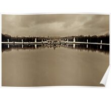 Versailles on a cloudy day Poster