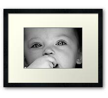 Brianna B&W Framed Print