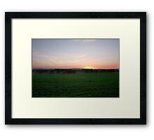 Sutton Hill Sunrise Framed Print