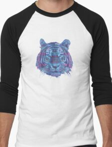 Tiger Purple Men's Baseball ¾ T-Shirt