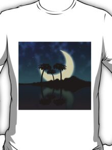 Big moon and island T-Shirt