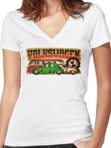 Classic VWs Women's Fitted V-Neck T-Shirt