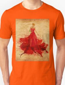 Blonde in dress of paint Unisex T-Shirt