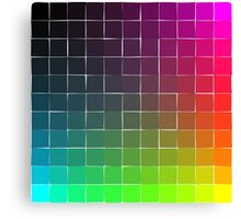 Rainbow squares brights Canvas Print