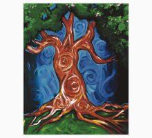 Swirly Tree Kids Tee