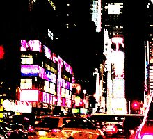 New York City Broadway at night by Vitaliy Gonikman